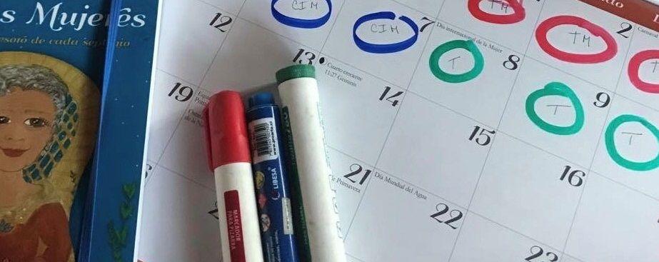 calendario de actividades de Zulma Moreyra